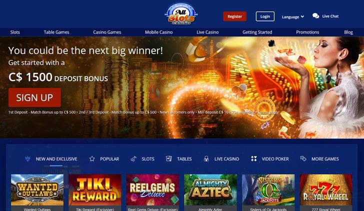 All Slots Casino Website - Mobile