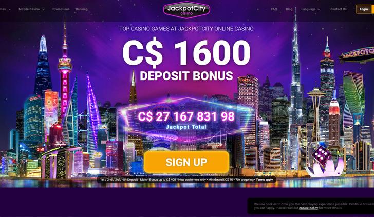 Jackpot City Casino Website - Mobile