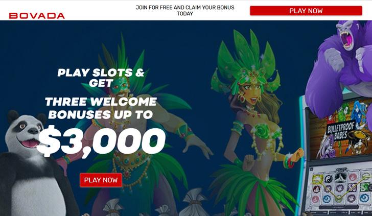 Bovada Casino Website - Mobile