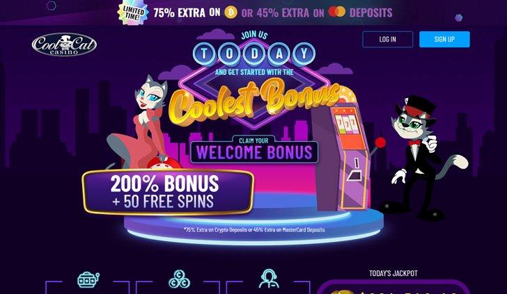 Cool Cat Casino Website - Mobile