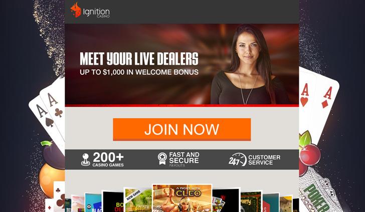 Ignition Casino Website - Mobile