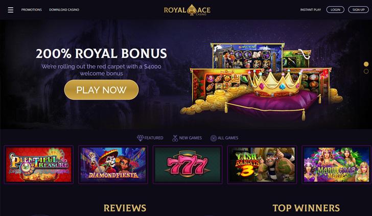 Royal Ace Casino Website - Mobile