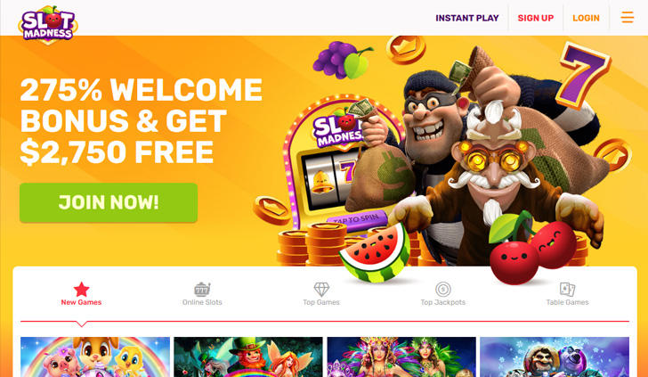 Slot Madness Casino Website - Mobile