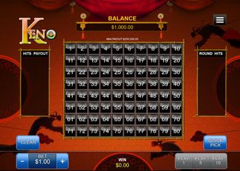 Keno - Online Game